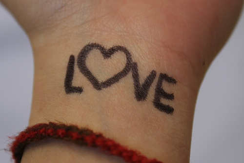 Draw A Heart On Your Wrist Change The World Etched In Tin